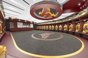 New Gopher Locker Room (Photo by JLG Architects)