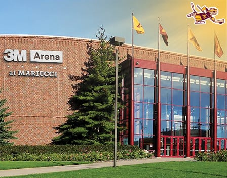 New Brushed Steel 3M Branding Coming to 3M Arena at Mariucci.
